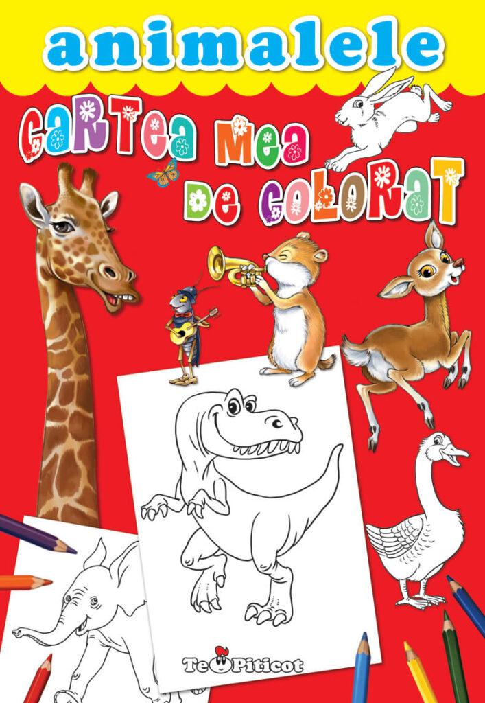 Cartea mea de colorat - animalele